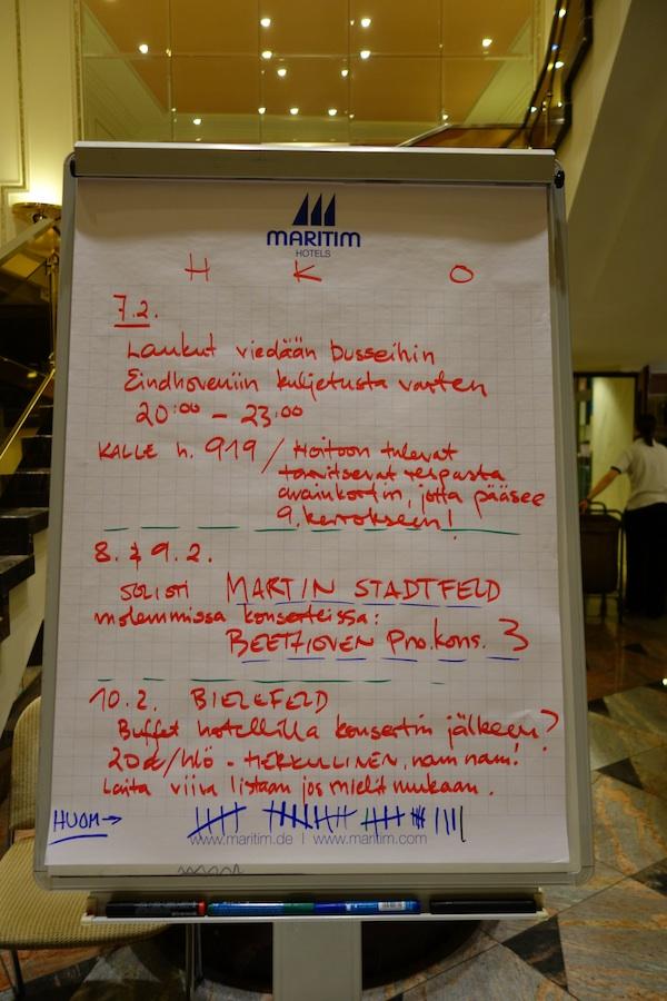 Eindhoven - ohjeet siirtymiseen ja uusi solisti
